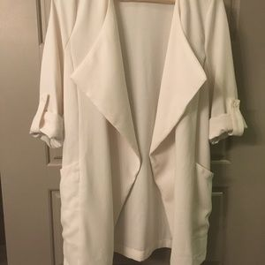 Elodie Open Front Draped Collar Jacket
